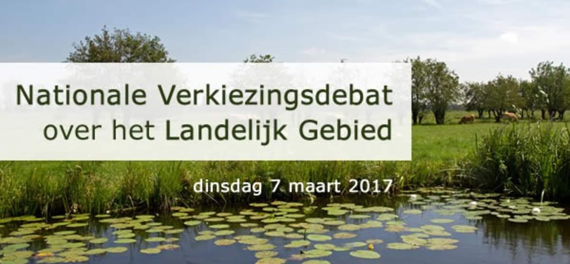 Live te volgen: het nationaal verkiezingsdebat over de toekomst van het landelijk gebied