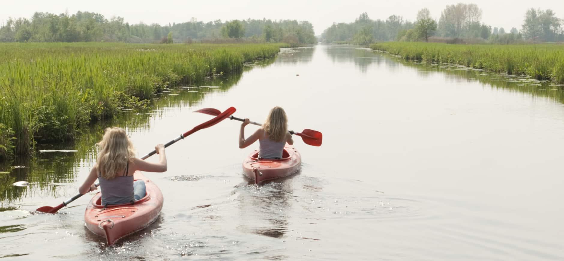 Nieuwkoopse plassen kano varen