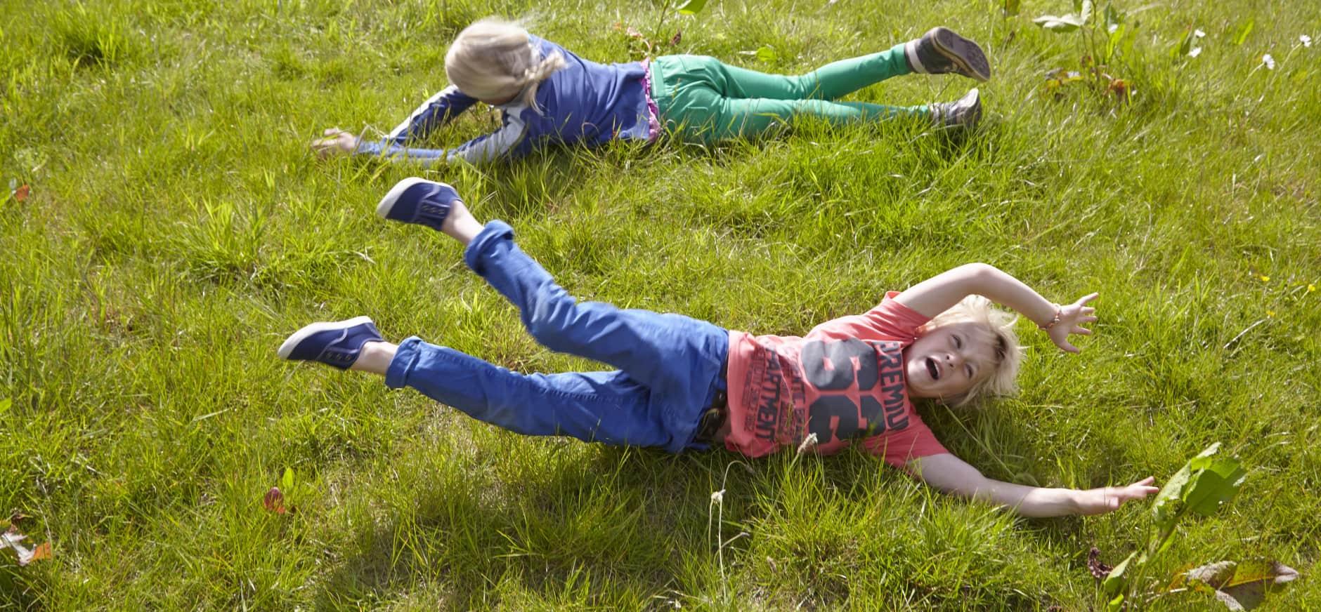 Rol door het gras