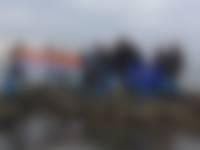 Medewerkers RoosRos aan de slag in Korendijkse Slikken