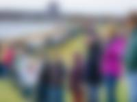 kustbeschermers in actie tegen plannen Brouwerseiland