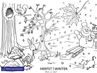 Kleurplaat winter