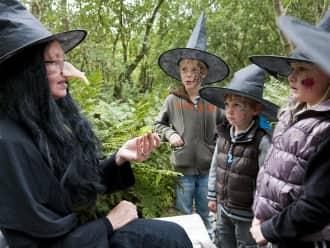 heksen bij een kinderfeestje in de Veluwezoom