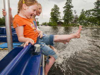 Kinderfeestje watersafari in de Nieuwkoopse plassen