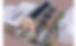 Vogelvlucht nieuwe informatiecentrum Schiermonnikoog