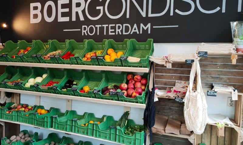BOERgondisch Rotterdam winkelschappen met groenten