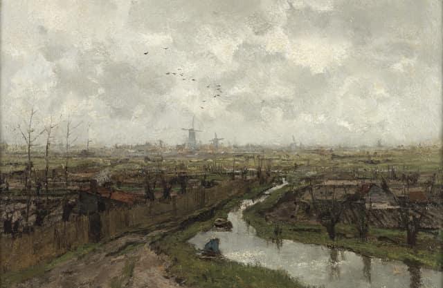De Buitenwatersloot tussen Den Hoorn en Delft