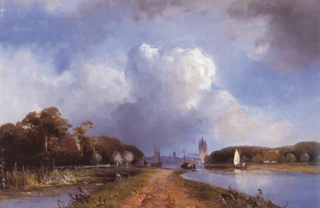 De Vliet tussen Rijswijk en Delft