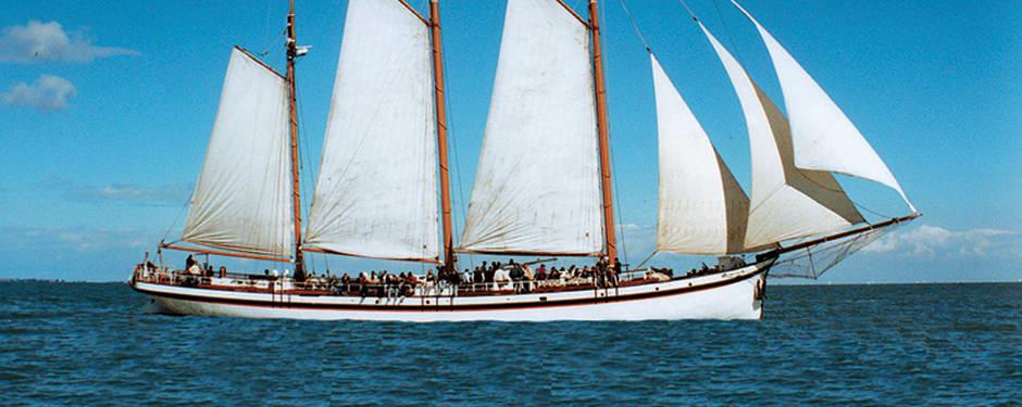 Met zeilschip Sanne Sophia naar Marker Wadden