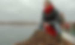 Aan het werk in het Naardermeer