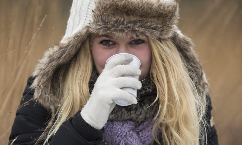 Winterwandeling met warme chocolademelk toe