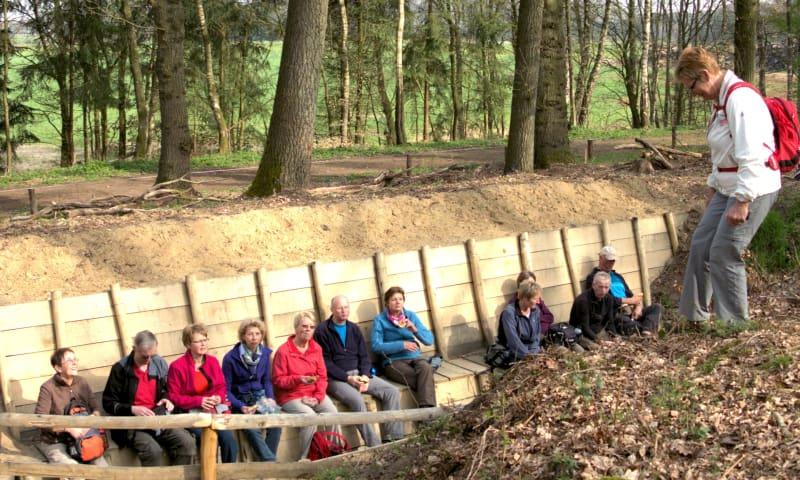Erfgoedroute Bergherbos 1: 't Peeske, loopgraven en andere geschiedenis