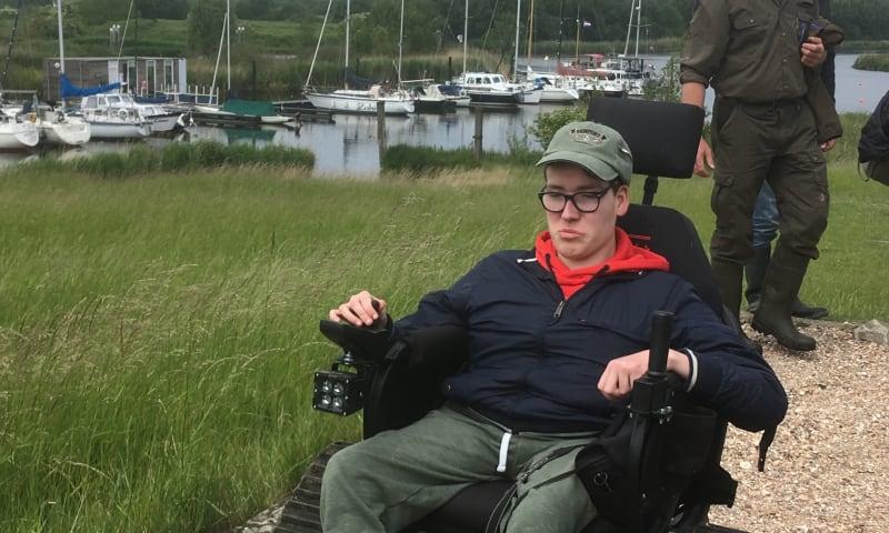 Rit met off-road rolstoel door de Dintelse Gorzen