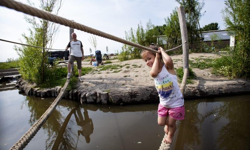 Speelnatuur van OERRR bij Belevenisboerderij Schieveen