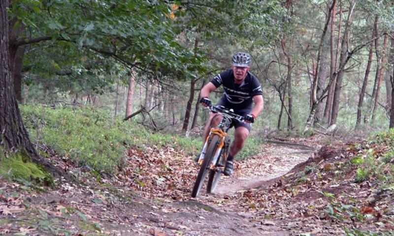 Mountainbiken in Visdonk