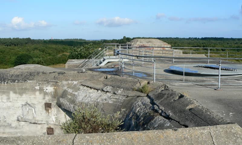 Het dak van de bunker