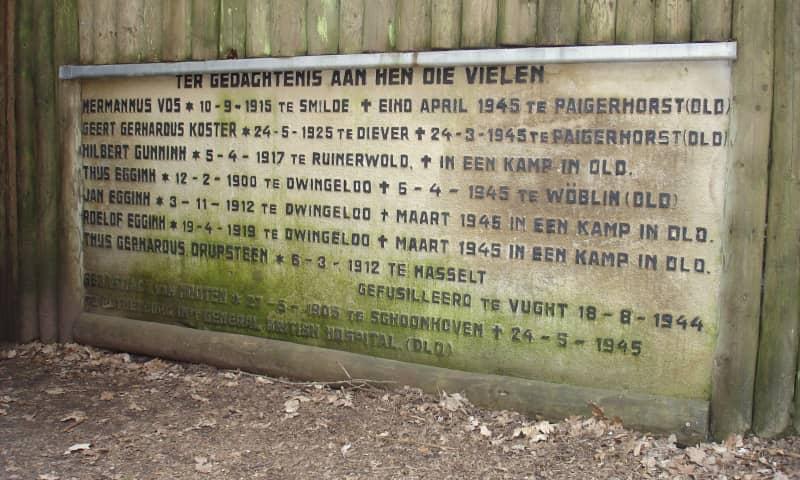 Gedenksteen Onderduikershol