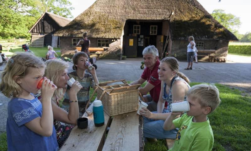 Picknicktafel voor boerderij de Meulenhorst op Eerde
