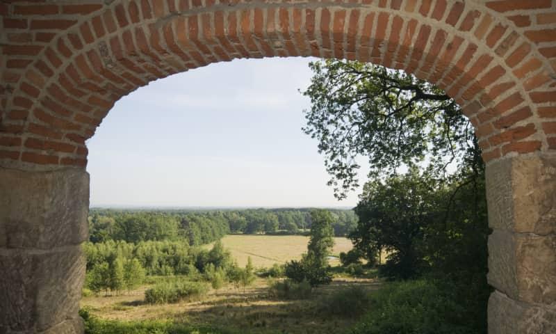 Uitzicht vanuit de koepel op Tankenberg