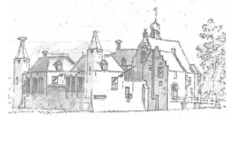 Schets kasteel van Oijen