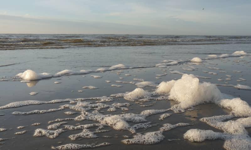 Jutterstocht over het Noordzeestrand