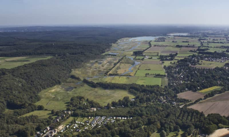 Overzicht landschap rond Sint Jansberg
