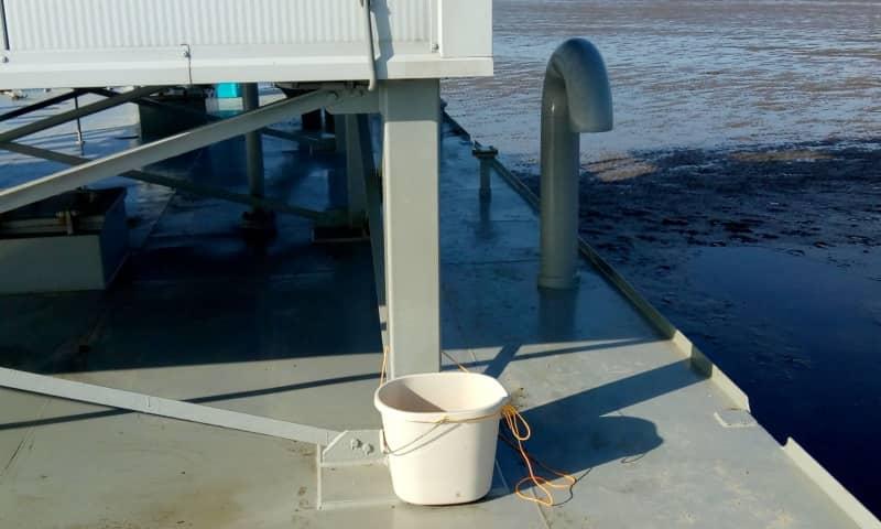 Lekkage van de watertank op Richel