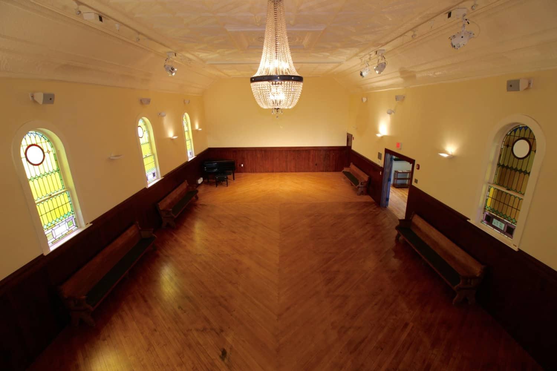 Wellfleet Preservation Hall Upper Hall from Balcony a