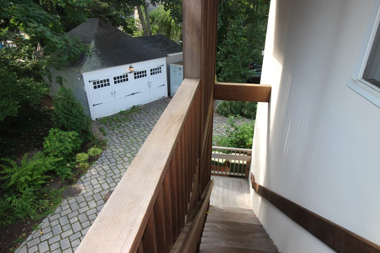 Wellfleet Preservation Hall Back Stairway