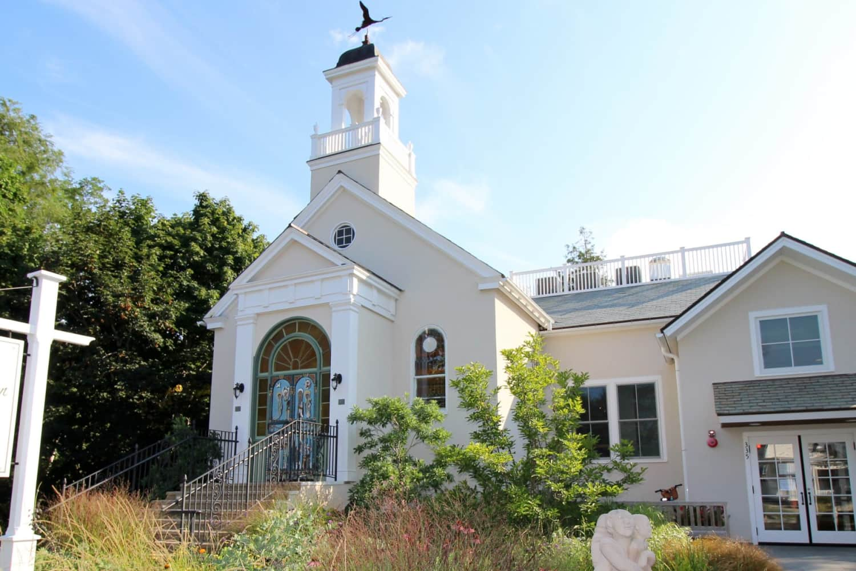 Wellfleet Preservation Hall Front and Garden