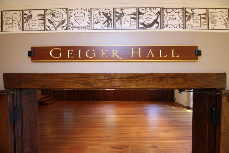Wellfleet Preservation Hall Geiger Hall