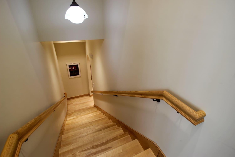 Wellfleet Preservation Hall Stairway to Lower Hall
