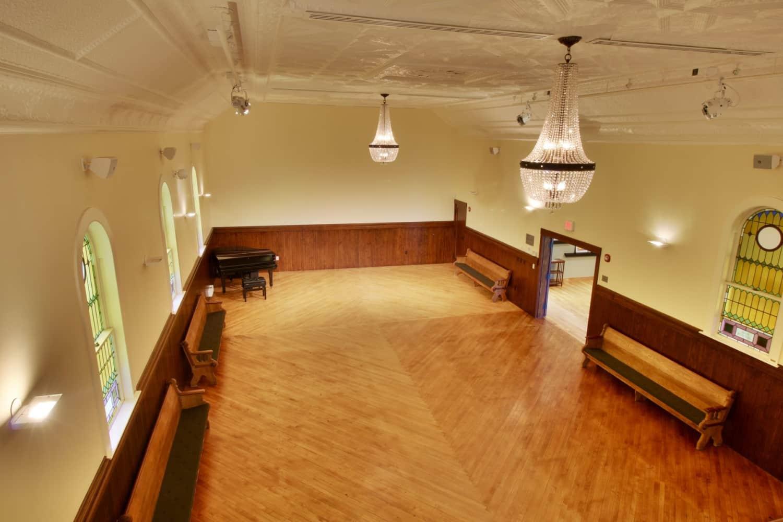 Wellfleet Preservation Hall Upper Hall from Balcony b