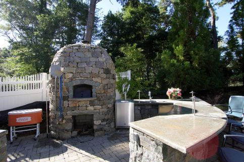 Outdoor Pizza Oven &Amp; Bar