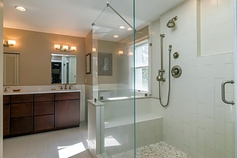 Master Bath With Large Shower