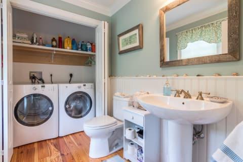 First Floor Half Bath and Laundry
