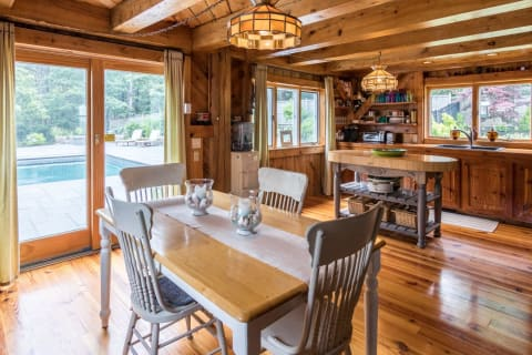 Cottage Dining Into Kitchen