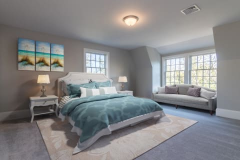 Master Suite on Second Level - Staged