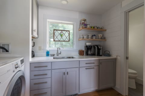 Laundry Room With Powder Room