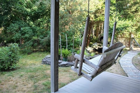 Patio and Swing
