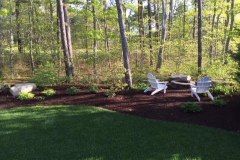 Fire Pit Overlooking Golf Course