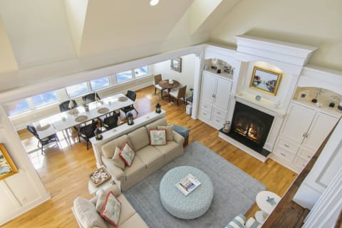 View of Living Room from Loft Above