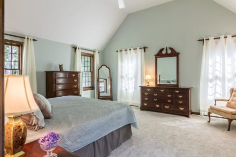 Huge Master Bedroom Suite With Walk-In Closet ( French Doors to the Deck not Shown)
