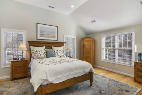 Master Suite With Hardwood Floors