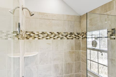 Master Shower With Glass Enclosure