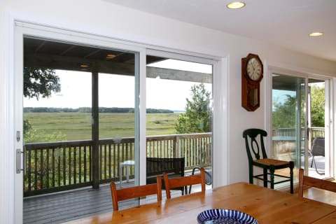 Dine While Listening to the Birds and Enjoying the Marsh. Sliders to the Deck.