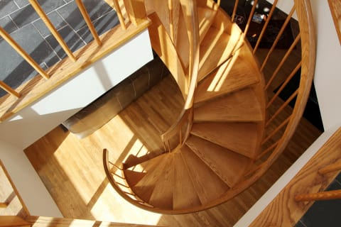 Beautiful Custom Staircase to Second Level.