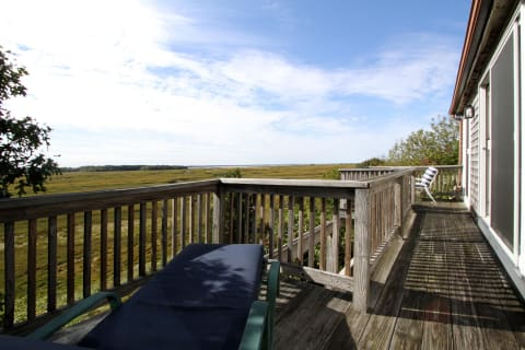 Deck off Master Bedroom to Enjoy the Marsh and Bay Views.