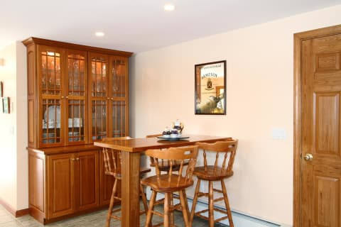 Your Own Irish Pub or Breakfast Nook With Glass Door Breakfront