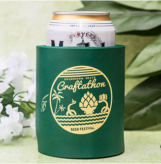 Custom Koozies Wedding Koozies Custom Coolies - 24HourWristbands.Com